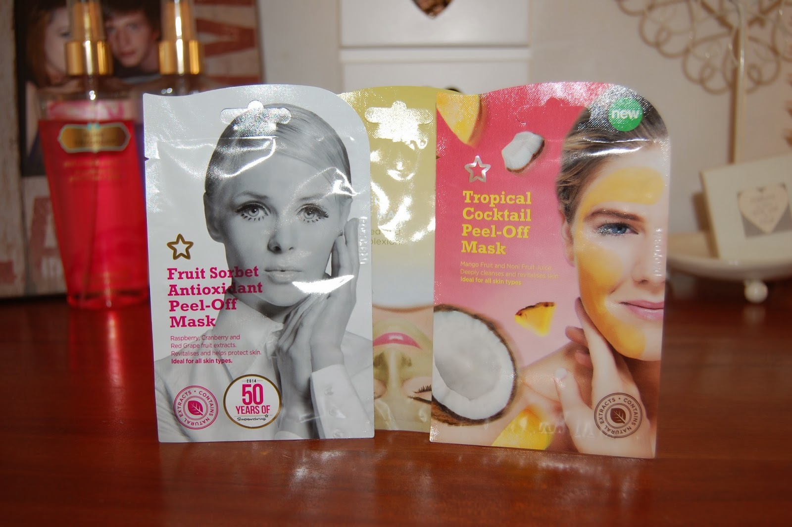 superdrug, facemasks, skincare, fruit sorbet, peel off face mask, boots