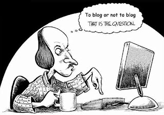 cartoon says to blog or not to blog