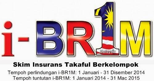 Skim Insurans Takaful Berkelompok (i-BR1M), tempoh tuntutan i-BR1M, tempoh perlindungan i-BR1M 2014, cara buat tuntutan i-BR1M, i-BR1M akan diganti dengan Skim Khairat Kematian untuk BR1M 4.0 tahun 2015