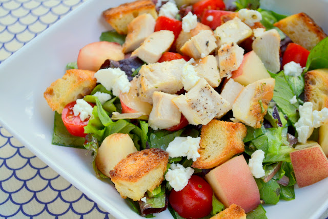 white nectarine and chicken salad recipe
