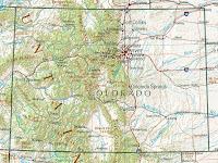 Carte du Colorado Departement Région