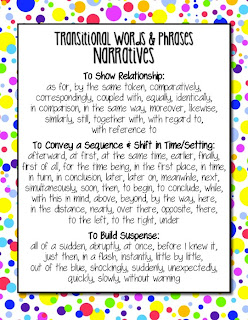 Common Core Transitions for Narrative Writing