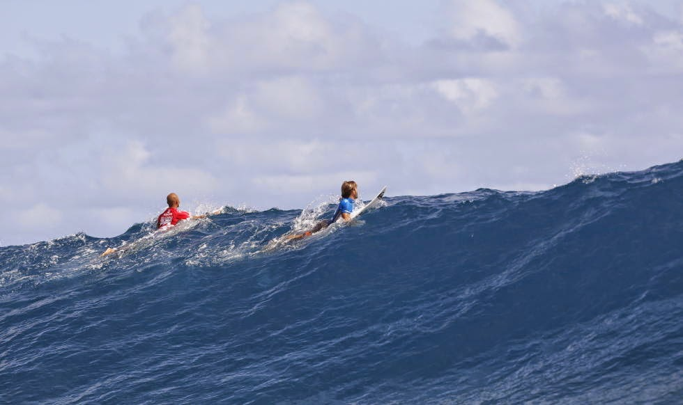 Billabong Pro Tahiti 2014 Fredrick Patacchia and Aritz Aranburu Foto ASP Will H S