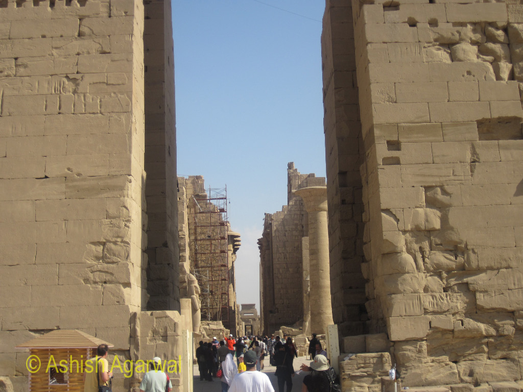 The magnificent structure of the Karnak temple in Luxor