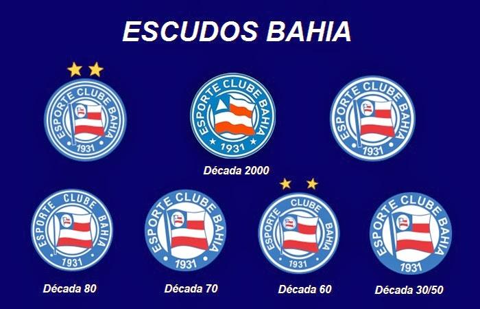 Todos os escudos do Bahia