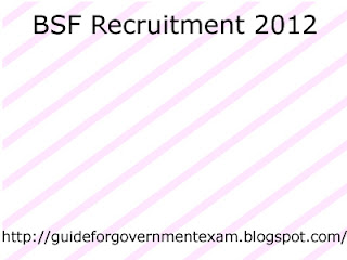 BSF Paramedical Staff Vacancies