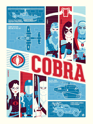 New York Comic-Con 2012 Exclusive G.I. Joe Screen Prints by Dave Perillo - COBRA