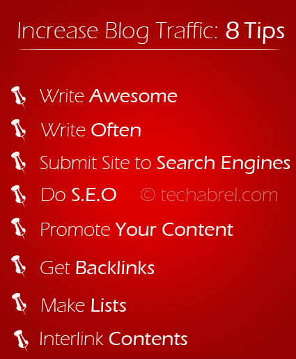 tips to increase blog traffic infographic