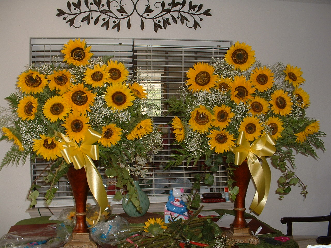 Gone crafting fresh sunflowers
