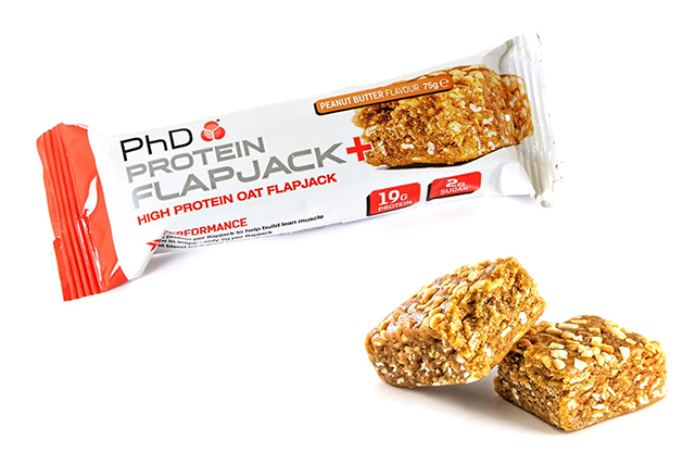 phd protein flapjack bar snack