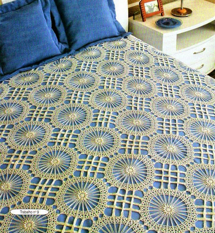 3 finos cubrecamas al crochet   con patrones todo crochet