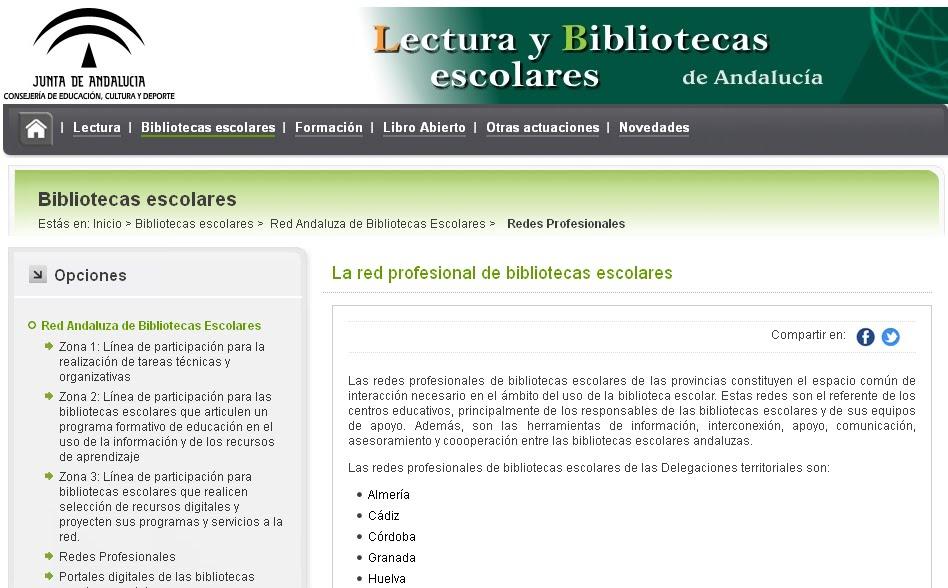 Red profesional de las bibliotecas escolares de la provincia de Málaga