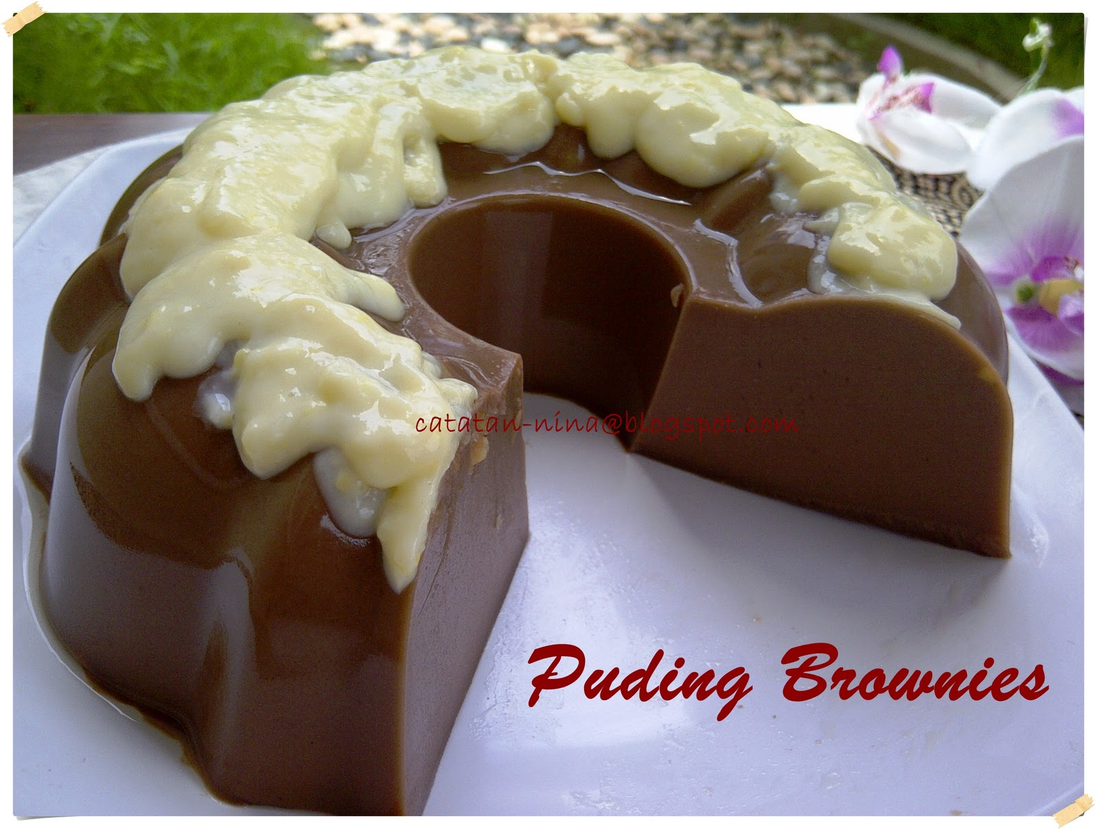 puding lagi kali ini penasaran dengan puding brownies karena beberapa