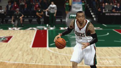 NBA 2K13 Monta Ellis Cyberface Patch