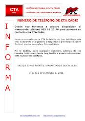 NÚMERO DE TELÉFONO DE CTA CÁDIZ