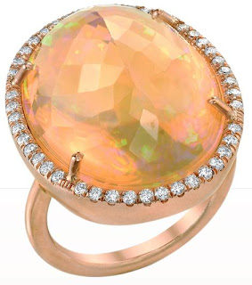 Irene Neuwirth Fire Opal Ring, irene neuwirth, irene neuwirth boca raton, fire opal jewelry