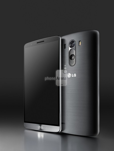 Foto press di LG G3 nella colorazione nera