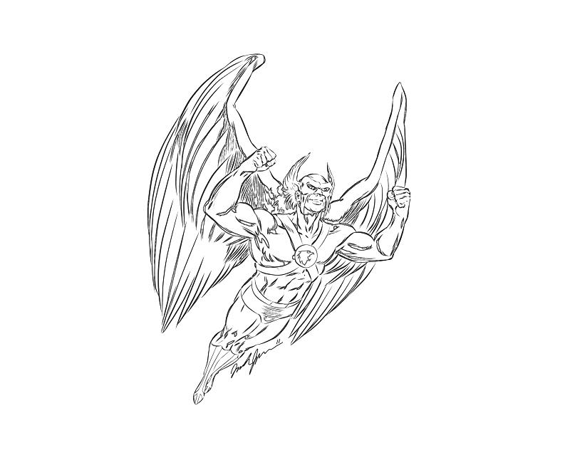 hawk guy coloring pages - photo#19