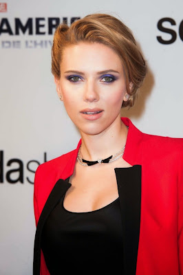 Scarlett Johansson red trouser dresses