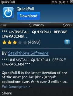 Quickpull Software reset bb