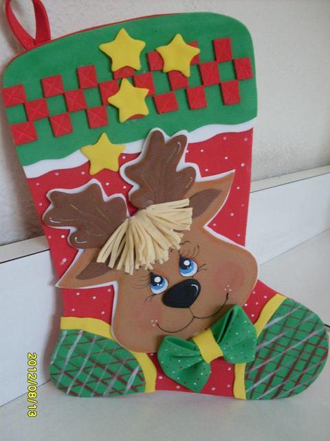 bota+navideña+foamy+goma-eva+ ...