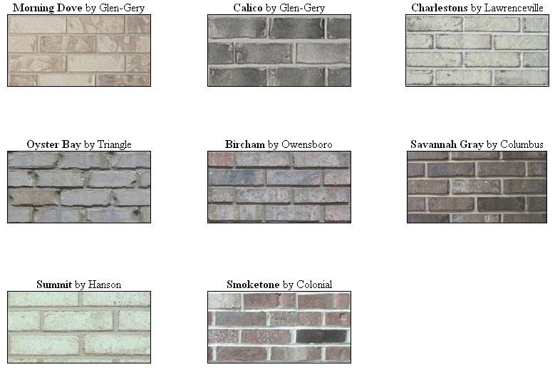 brick vector picture brick types