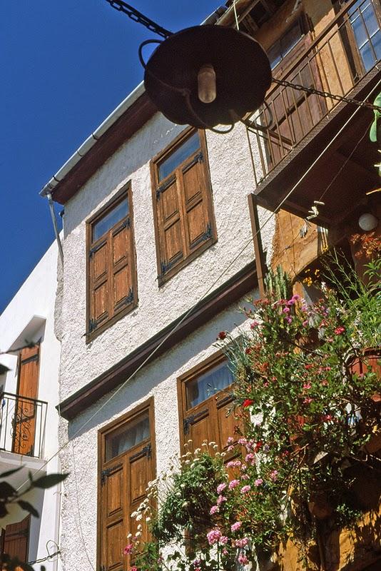 Façade d'une maison à Hania (Crète, Grèce)