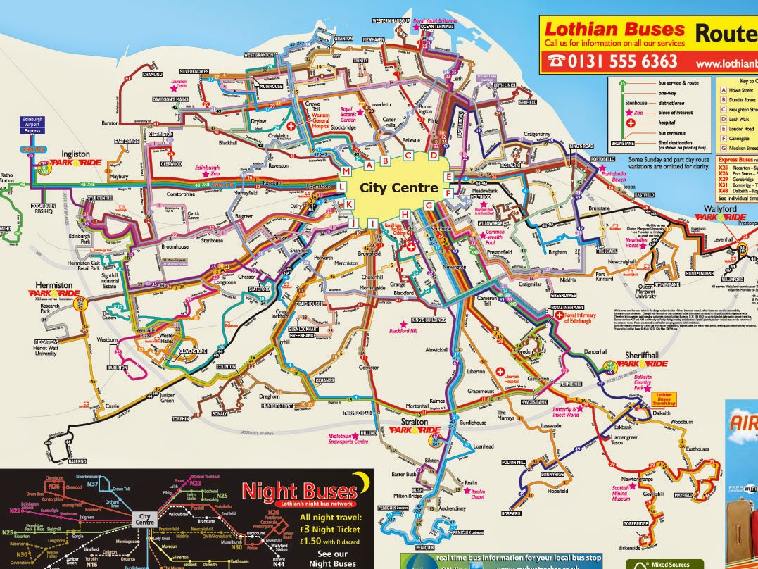 Lothian Buses - Map