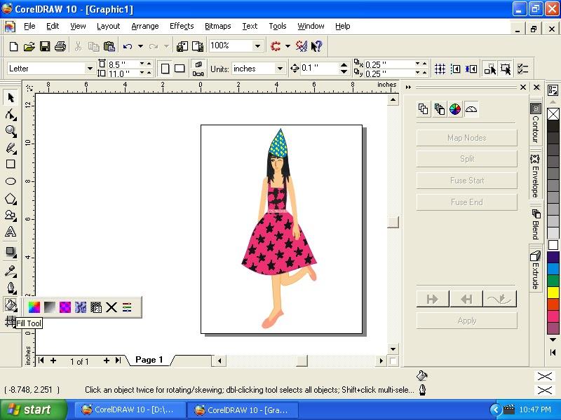 Membuat Gambar Mia Dengan Corel Draw