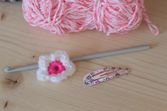 barettes fleurs crochet