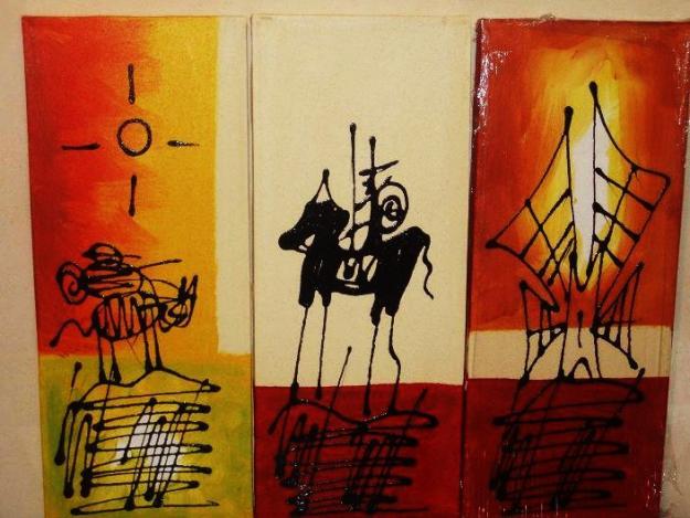 Cuadros abstractos oleos pinturas tripticos mercadolibre for Cuadros tripticos abstractos