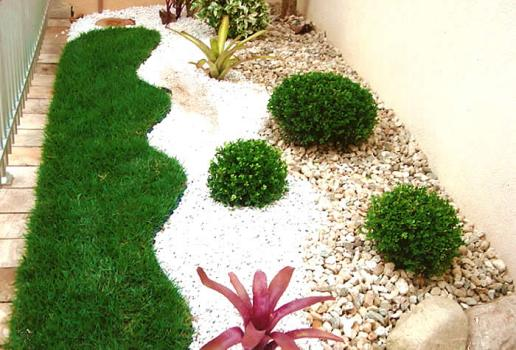 fotos de jardins horizontais:Garden Design Ideas with Pebbles