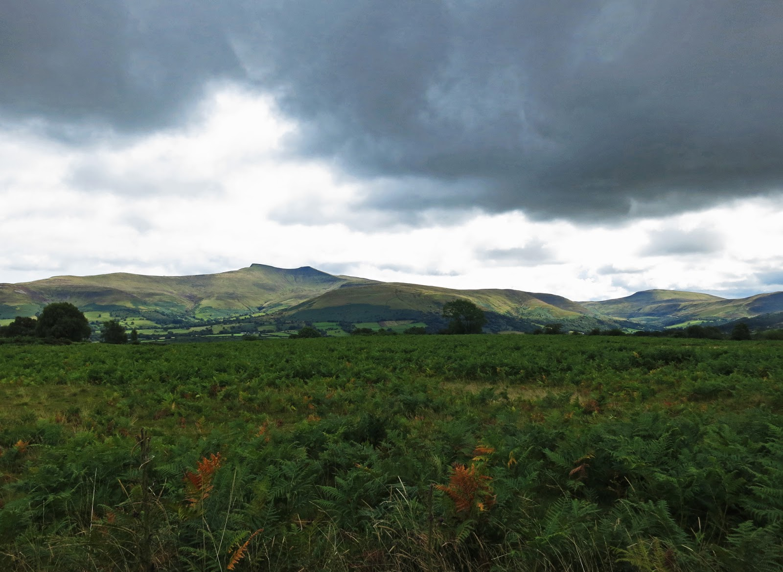 Hills in the Brecon Beacons National Park, Wales