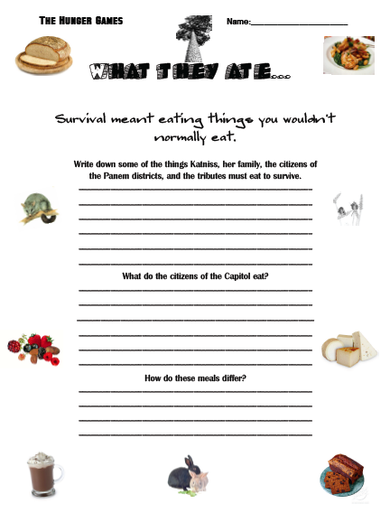 field trip lesson plan template - teaching about world hunger in the hunger games