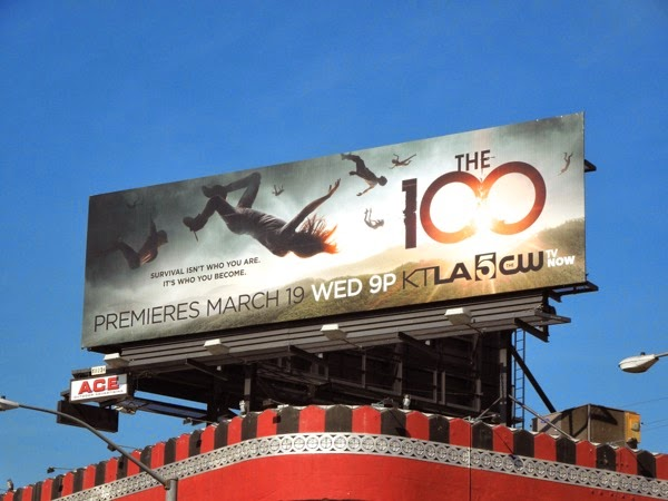 The 100 series premiere billboard