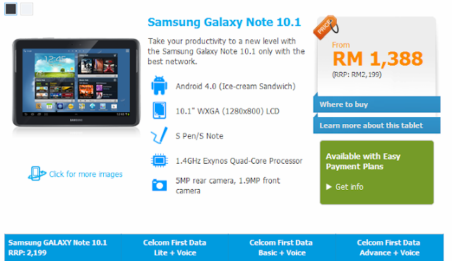 Celcom Samsung Galaxy Note 10.1