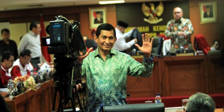 Presiden Direktur PT Freeport Indonesia Maroef Sjamsoeddin memenuhi panggilan Mahkamah Kehormatan Dewan dalam sidang terbuka di Gedung Parlemen, Jakarta, Kamis (3/12/2015).