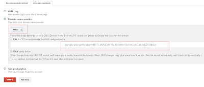 txt record entry for google apps