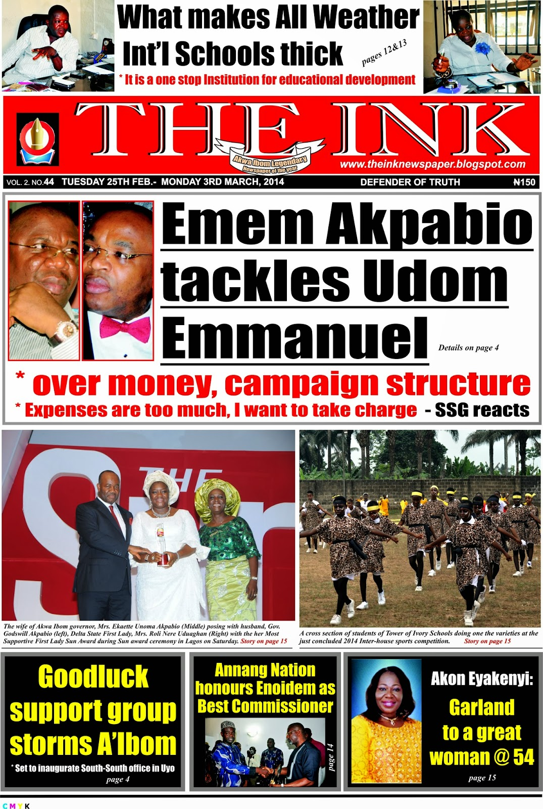 Latest Edition of The Ink Newspaper, Uyo Akwa Ibom State