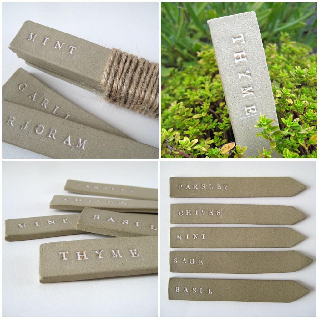 Garden Labels: Ceramic Plant Markers