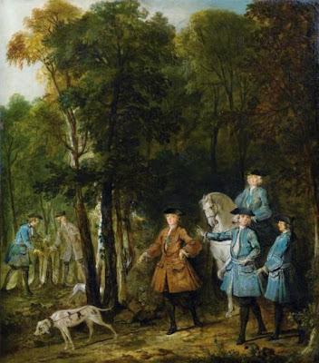 Jean-Baptiste Oudry (1686-1755) Louis XV tenant en laisse un limier