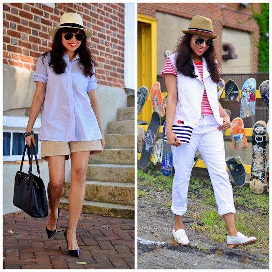 Blogger with boyish style