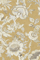 flower wallpaper tan blue Richmond T4148 