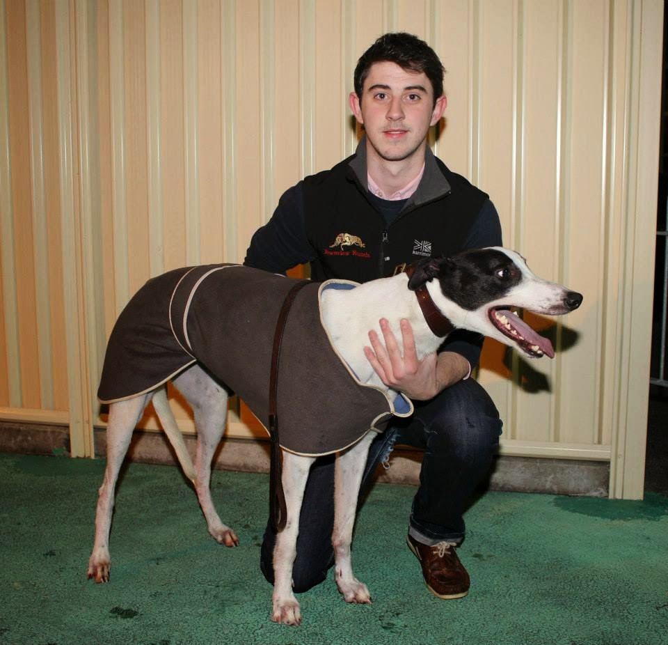 P Young Greyhound Trainer Michael Keenan with John