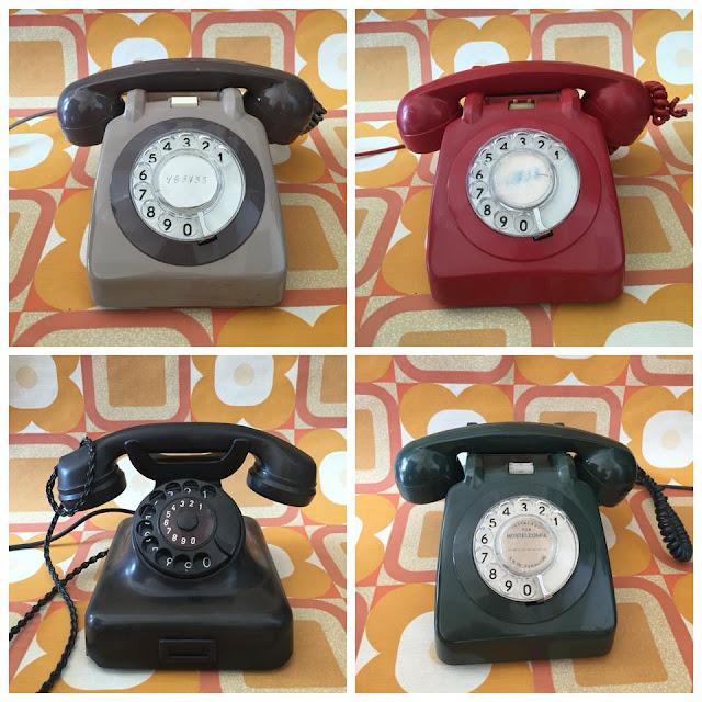 telefones, vintage, antigos, a Porta Verde, loja vintage, decoração vintage