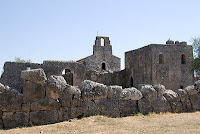 remains of monastery John the Baptis in Necromanteion Greece