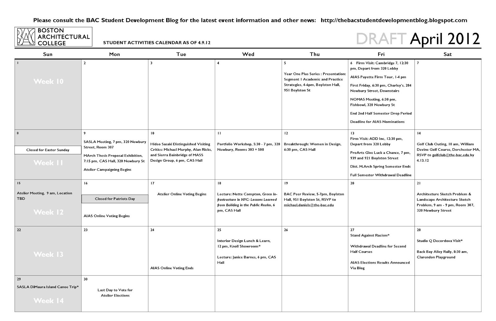 bac thesis calendar The following academic calendar was correct and complete when compiled   senior thesis stipend application deadline for fall-term or academic-year senior.