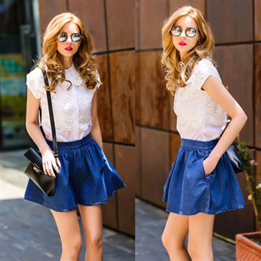 denim/jeans Shorts/long for women/lady's skirts for spring/summer 2015/2016