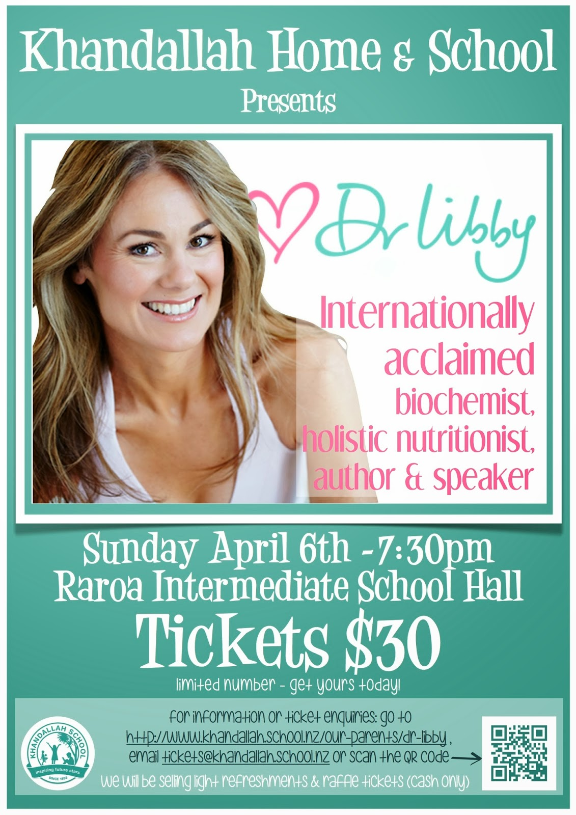 Amesbury school khandallah home school association is proud to bring internationally acclaimed biochemist holistic nutritionist author and speaker dr libby to fandeluxe Choice Image