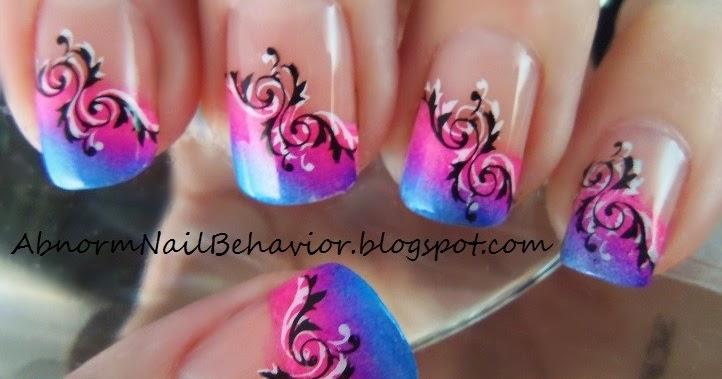 abnorm nail behavior bright summer french tips